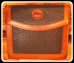 Dazzling Chestnut & Licorice Vintage Dooney Credit Card Wallet