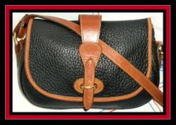 Sweet Classic Black & Tan Tack Bag Dooney & Bourke AWL- Black & Tan, Tack Bag, Dooney & Bourke, AWL,Over and Under Bags, equestrian, leather Dooney bag, AWL Vintage, Dooney Vintage tack bag,, nopin