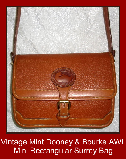 Dooney Bourke All Weather Leather Mini Rectangular Surrey Bag Sold