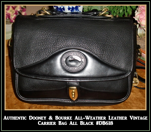 All Black Vintage Dooney & Bourke Carrier Handbag : All-Weather ...