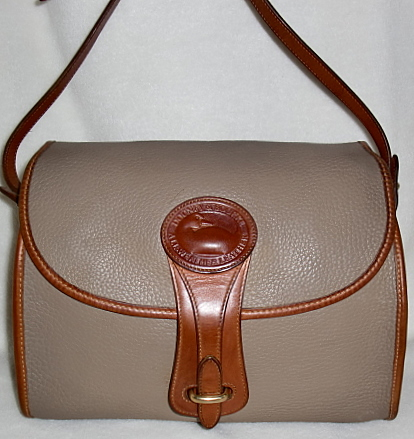 SOLD!!! All Weather Leather Dooney Taupe Essex Bag