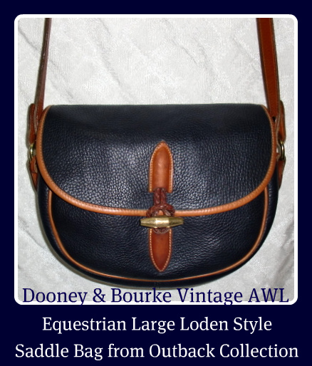 Round Up Time! Vintage Dooney Equestrian Saddle Bag-Larger Navy Blue, AWL, Outback Collection Dooney and Bourke, Dooney and Bourke, All Weather Leather, Large Saddle Bag, Outback Collection, Dooney Equestrian, Equestrian bag, Equestrian saddle bag,