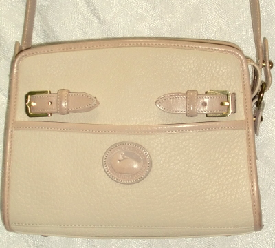 Dooney & Bourke All Weather Leather Zip Top Shoulderbag-Dooney & Bourke, All Weather Leather, Zip Top, Shoulderbag,Dooney, Dooney Bourke, Burke, Dooney zip top shoulderbag, Shoulderbag, Leather, Leather AWL, all weather leather, mint dooney purse, purse, handbag, Dooney and Bourke purse, zip top buckle, buckle bag, vintage dooney, vintage dooney purse, dooney zip top, Oatmeal color, oatmeal color purse, dooney purse in oatmeal oatmeal color bag, oatmeal color leather