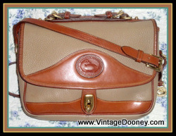 Totally Taupe Large Carrier Dooney & Bourke AWL Shoulder Bag