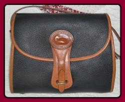 Stunning Regal Black Large Dooney & Bourke Essex Shoulder Bag