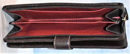 Dooney and Bourke  Signature Zip Checkbook Organizer Wallet