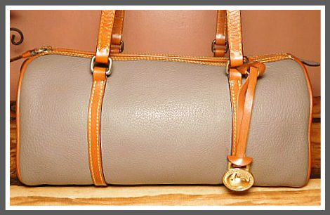 Tempestuous London Storm Cloud Barrel Bag All Weather Leather Dooney