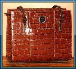 Sophisticated Cinnamon Chocolate Cappuccino Dooney Bayou Shoulder Bag