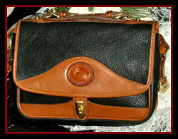 SOLD! Robust Black Vintage Dooney Carrier Shoulder Bag
