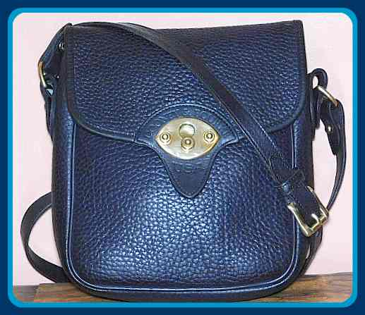Deep Rich Indigo Blue Cavalry Scout Vintage Dooney Shoulder Bag