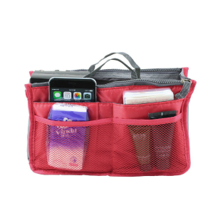 New! Ultimate Apple Red Handbag Organizer Insert with Pockets