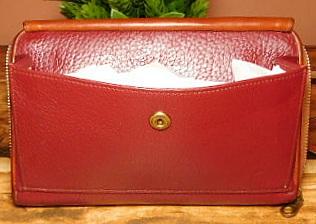 Limited Ruby Merlot Wine Dooney Zip-Along Wallet Crossbody Purse