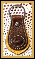 Delicious Chocolate Brown & Palomino Dooney & Bourke Keyfob