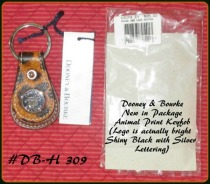 Exotic Jungle Animal Dooney Bourke KeyRing NEW with Tag