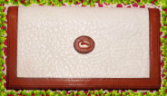 Captivating White Pearl Vintage Dooney Checkbook Cover AWL