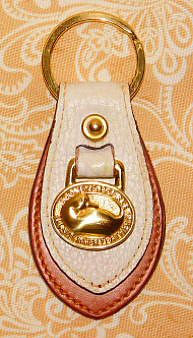 Touch of Alabaster Vintage Dooney Duck Key Fob