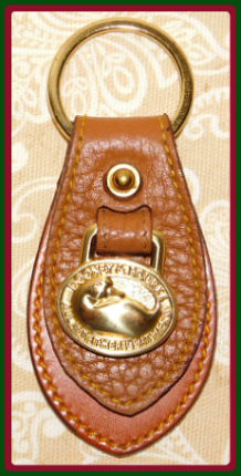 Brown Sugar Butterscotch All-Weather Leather Vintage Dooney Duck Key Fob
