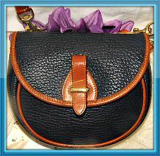 Merry Blue Bell Vintage Dooney Mini Flap Bag