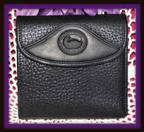 Striking Licorice Whip Black Dooney Credit Card Wallet