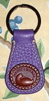 Passionate Purple Delight Dooney Keyring