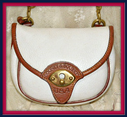 Breathtaking Vanilla Ice Cream Cavalry Vintage Dooney Body Belt Bag AWL