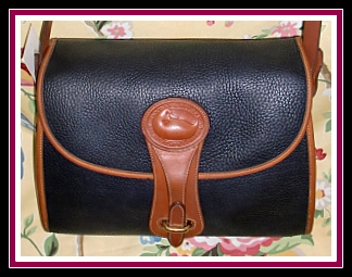 SOLD!!! Sublime Licorice Black Vintage Dooney Large Essex Shoulder Bag
