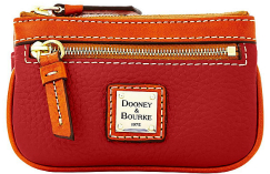 Dooney & Bourke Pebble Grain Small Coin Case New!