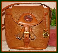 Saddle Up Vintage Dooney Pouch Crossbody Bag
