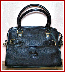 Flirty Black Coffee Large Dooney Buckle Bag Satchel