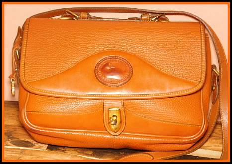 Brown Sugar Creme Brulee Vintage Dooney Large Carrier Bag