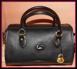 Licorice Whip Black Satchel & Shoulder Bag Dooney AWL
