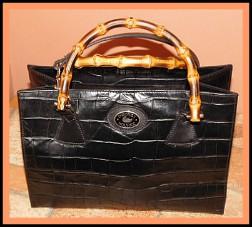 Vintage Dooney and Bourke Exotic Bayou Collection Alligator satchel shoulder bag