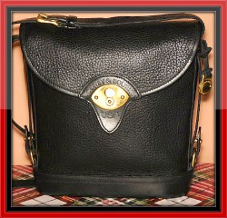Midnight Black Vintage Dooney Large Spectator Bag