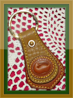 Enchanting Sandcastle Dooney and Bourke All Weather Leather  Duck Key Fob