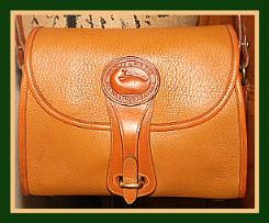 Branding Time  Vintage Dooney Essex Saddle Tan Shoulder Bag