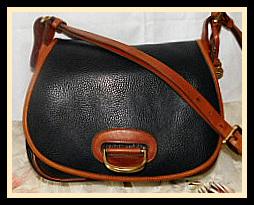 Old West Style Black Licorice Whip Horseshoe Bag & Key Fob Vintage Dooney