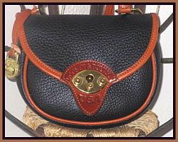 Wild West Licorice Black Vintage Dooney Cavalry Bag