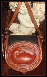 Captivating Black Licorice Big Duck Vintage Dooney Bag