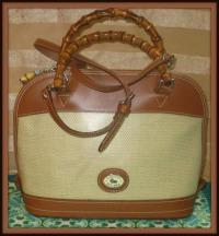 Captivating Panama Dooney & Bourke Satchel Shoulder Bag