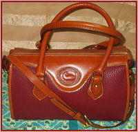 Yummy Raspberry Rouge Vintage Dooney Satchel Shoulder Bag