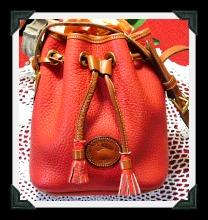 Luscious Cherry Red Vintage Dooney Drawstring Bag