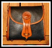 Snappy Licorice Black Vintage Dooney Essex Shoulder Bag