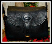 Rich Black Onyx Essex Bag Vintage Dooney AWL