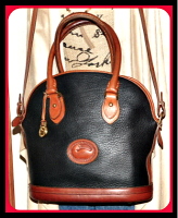 Fashionable Crisp Black Dooney Norfolk Shoulder Bag & Satchel