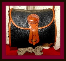 Yummy Black Licorice Vintage Dooney Essex Bag