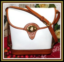 Stunning White Tearose Spectator Vintage Dooney Bag