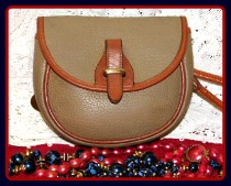 Smoky Taupe Mini Flap Bag Vintage Dooney