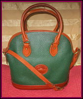 Fetching Forrest Fir Green Norfolk Vintage Dooney Satchel Shoulder Bag