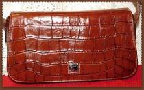 Chocolate Pecan Brown Dooney Bayou Flap Bag