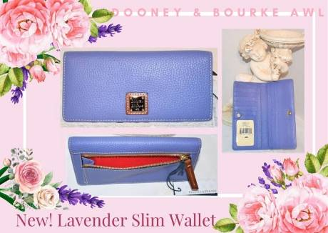Lavender Cupcake Dooney Slim Wallet NEW!